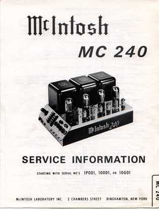 berner s mcintosh mc240 rh berners ch mcintosh mc 240 owners manual McIntosh MX110 Review